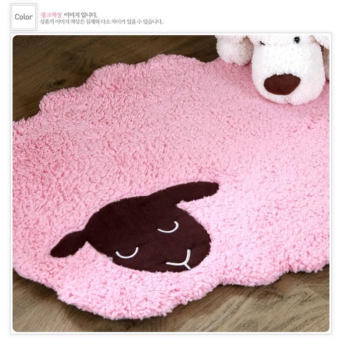 韩国进口-超级可爱的小羊造型地垫 门垫 脚垫23